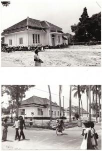 Tampak atas - Bangunan Eks Mess Ko Ass Tampak bawah - Bangunan pindahan sementara masjid Asy Syifaa