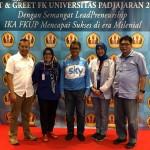 Bersama Ketua IKA dan Rektor